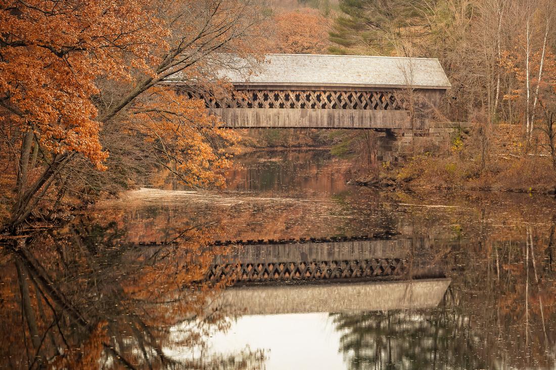 New Hampshire covered bridge, November.
